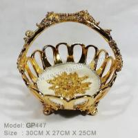 Buy cheap B:Gold plated and seashell item Resin Basket GP447 product