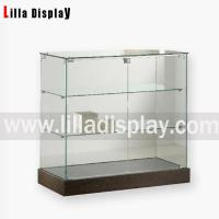 Buy cheap Glass countertop display case store fixuture with oak wooden color bottom Item code: 71001 from wholesalers