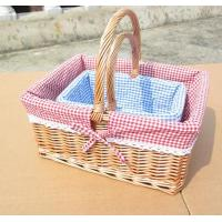 Buy cheap wicker handle basket product