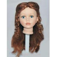 "Porcelain Doll Head 5.5"" Red Hair"