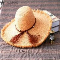 New Fashion China Factory Wide Brim Raffia Straw Hats For Men Women Wholesale
