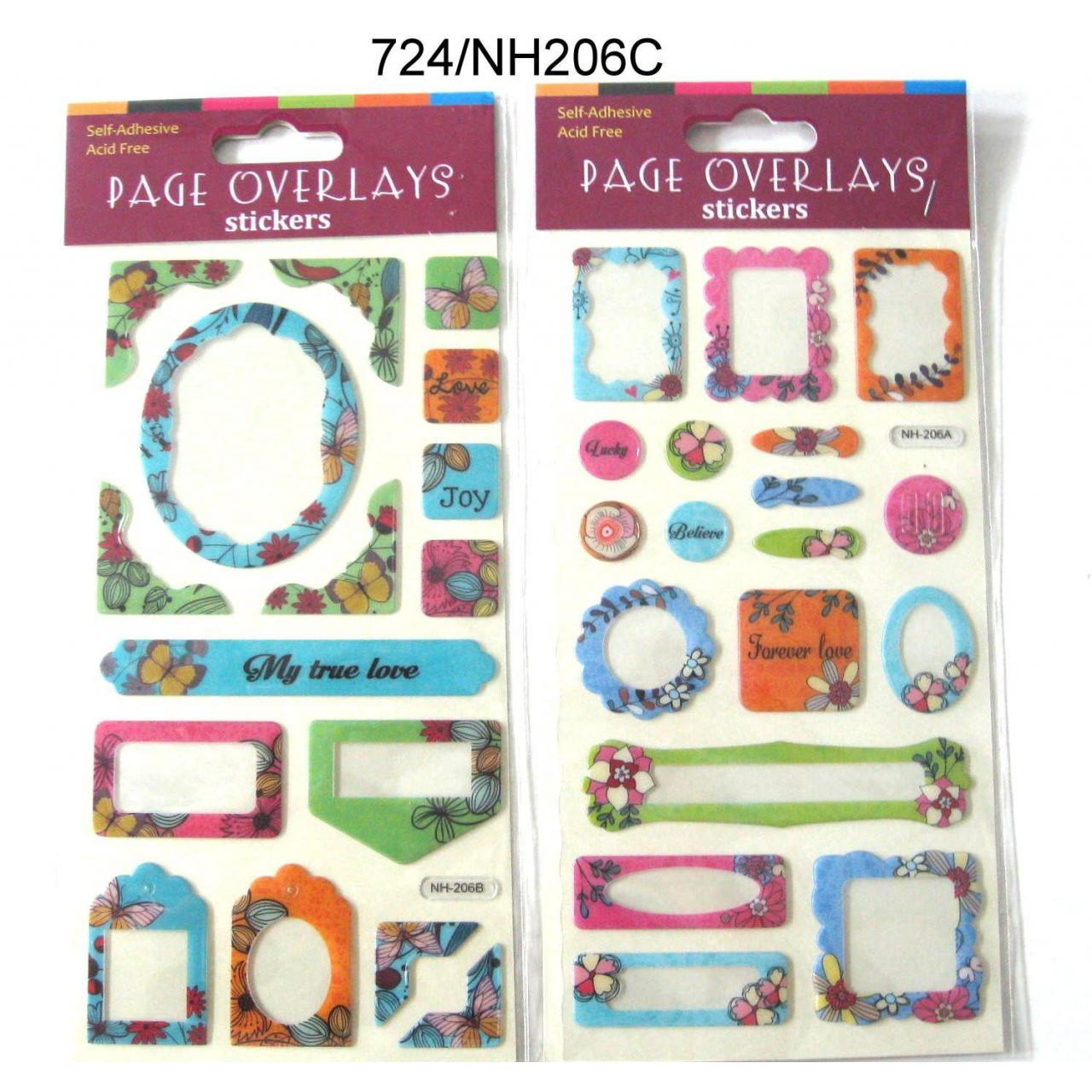 2 PHOTO FRAME PAGE OVERLAYS STICKER