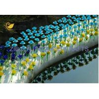 China Outdoor Garden Glass Flower YJ-6 on sale