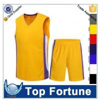 Buy cheap custom basketball jersey uniform design product