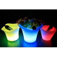 China Plastic Colorful LED Ice Bucket wholesale