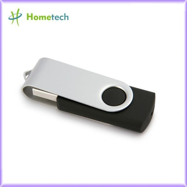 Black Swivel 1gb Custom Usb Flash Drives Bulk With Laser