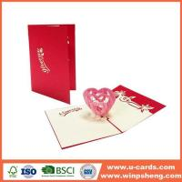 Quality Handmade Card Different Types 3d Heart Pop Up Valentines Card Template Free for sale