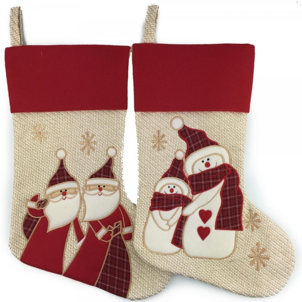 Beige Christmas Stockings Christmas Home Decoration 16 Inch Length of ...