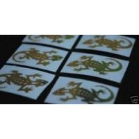 Buy cheap Accessories Lizard Graphic Metal Decal Golden Emblem Sticker Set from wholesalers