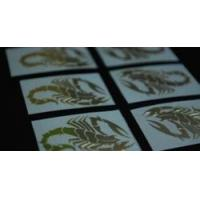 Buy cheap Accessories Scorpion Graphic Metal Decal Golden Emblem Sticker Set from wholesalers