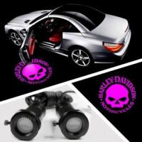 China CREE Car LED Lights Courtesy Welcome Laser Logo Projector For Pink HARLEY DAVIDSON #4666 on sale