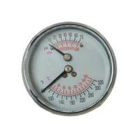 China 2.5inch-63mm Black Steel Case Back Type Pressure Gauge Thermometer on sale