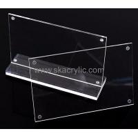 China Customized acrylic 8.5 x 11 sign holder acrylic menu stand sign display holders SH-066 on sale