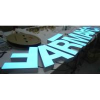 China Led Stainless Steel Letter front light led sign l wholesale