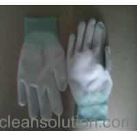 Buy cheap ESD Carbon Fibered Nylon Gloves with PU-coated Palm from wholesalers