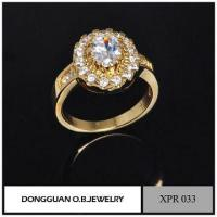 Buy cheap Simple Design Wedding Rings, Gemstone Setting Jewelry, Romantic Gold Ring product