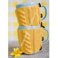 China Knitted Wraparound Cable Design Coffee Mug Cozy , Custom Reusable Crochet Coffee Cozy on sale
