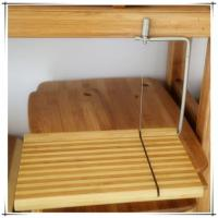 Buy cheap Bamboo Wood Cheese Cutting Board with Slicer from wholesalers