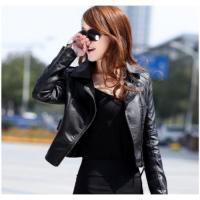 China New Winter Women Motorcycle Leather Coat Jacket on sale