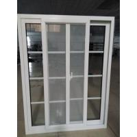 Buy cheap Double glazing aluminum sliding window with grid decoration and screen product