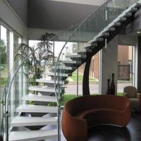 Buy cheap Bent Stainless Steel Handrail Used For Indoor Curved Staircase PR-C37 product