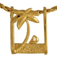 China Palm Tree Pendant with Sailboat wholesale