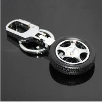 China Unique Design Rubber Car Wheel Key Chains CK-001 wholesale