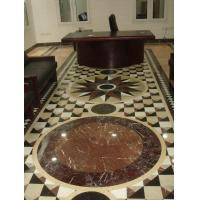 Buy cheap Design Waterjet White/Cream/Brown Stone Marble Sandstone Pattern Medallion For Floor Decoration product