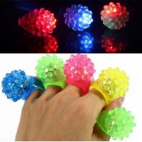 China Strawberry Glow Light Ring Torch LED Finger Ring Lights on sale