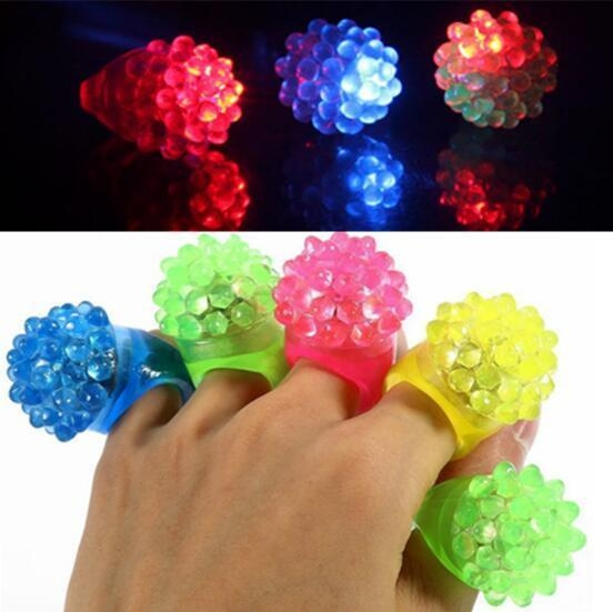 Quality Strawberry Glow Light Ring Torch LED Finger Ring Lights for sale