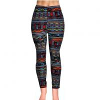 Buy cheap Custom Made Colored Tribal Rhombus 3D Sublimation Print Milk Silk Fitness Workout Leggings from wholesalers