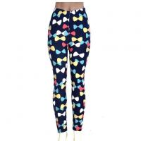 Buy cheap Women Casual Trendy Candy Color Bowknot Digital Printing Slim Leggings from wholesalers