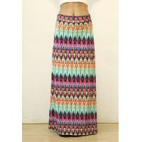 Buy cheap Summer Multi-color Floral Print High Waist Beach Maxi Skirt Long Skirt product