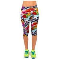 Buy cheap Salable Funny Calendula Flowers Printed Absorbing Knee-length Capri Leggings product