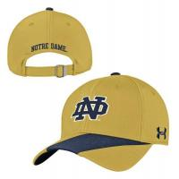 China Under Armour Notre Dame Gold Rush 2016 Sideline Adjustable Hat wholesale