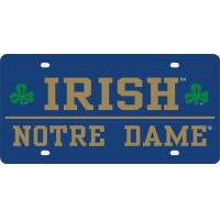 """Buy cheap Notre Dame """"Irish"""" Mirrored License Plate product"""