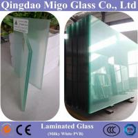 China Clear Float Laminated Architectural Glass With Milky White PVB on sale