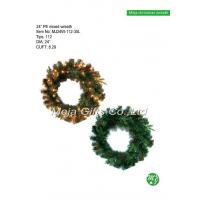 Buy cheap 24 Inch PE mixed Christmas wreath from wholesalers