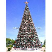 Buy cheap 25m Giant Commercial Christmas tree with led lighting and decorations from wholesalers