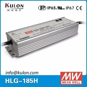 Quality Meanwell HLG-185H-36 metal housing 185w 36V IP67 ac/dc led driver for sale
