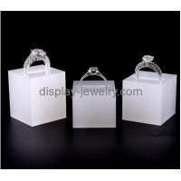 Buy cheap China plexiglass manufacturer hot sale acrylic ring displays wholesale jewelry ring holder RDJ-018 from wholesalers