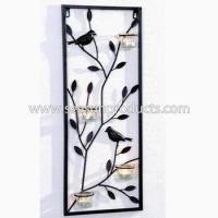 Buy cheap decorative metal sconce in leaves and birds design from wholesalers