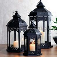 Buy cheap made in China metal lantern in Moroccan design set of 3 from wholesalers