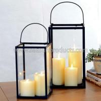 Buy cheap made in China metal lantern set of 2 from wholesalers
