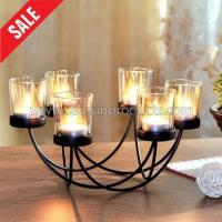 Buy cheap China metal candle holder with 6 glass cups table decoration from wholesalers
