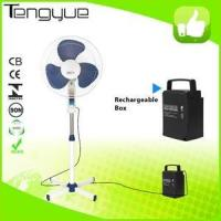 New hot sale portable rechargeable standing fan with LED lightTY-F16