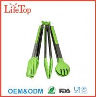 Silicone and Stainless Steel Flipper Tongs Salad Tong Food Tong