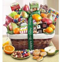 Buy cheap Happy Birthday Fruit & Sweets Basket NO.5 delivery basket product