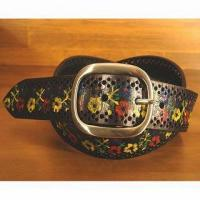 China Belts Wizz Express Painted Leather Belt Black  One Size 1012194089 on sale