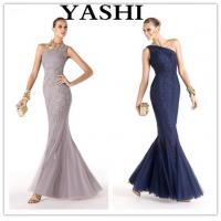 Buy cheap Hot Sale Brand Name Floor Length One-Shoulder Mermaid Appliqued Evening Gown (LH0033) product